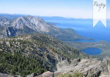 Party 7: High Tea Above Tahoe, Mt. Tallac Summit